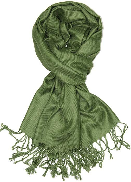 0abefbdd823bb Achillea Large Soft Silky Pashmina Shawl Wrap Scarf in Solid Colors  (Champagne) at Amazon Women's Clothing store: