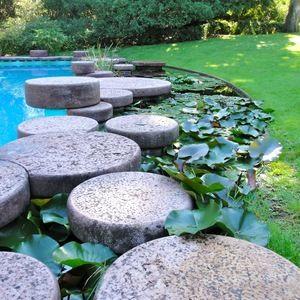 Garden with swimming pool and greenhouse - Villa La Terrazza, Pietro Porcinai