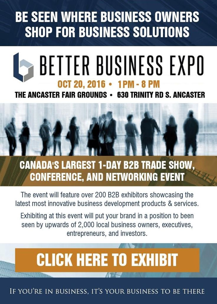 DON'T MISS This trade show B2B