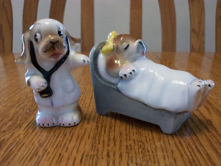 Vintage Anthropomorphic Cute PY PUPPY DOG DOCTOR PATIENT Salt And Pepper Shakers | Collectibles, Decorative Collectibles, Salt & Pepper Shakers | eBay!