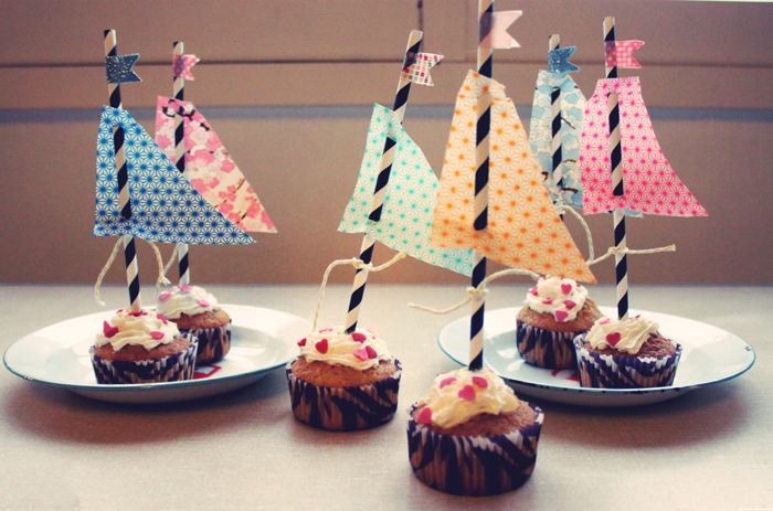 Mini bâteaux cupcakes