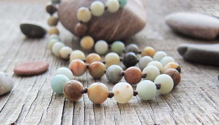 gift ideas for mom gifts Amazonite necklaces September birthstone Virgo birthstone Healing jewellery Energy necklaces Protection necklaces by JaneRJewelry on Etsy