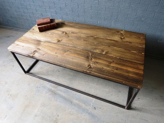 Industrial Chic Style Reclaimed Custom Coffee Table This is our new coffee table or tv stand We make custom furniture for homes, bars and restaurants Made from reclaimed timber and steel so this makes them eco-friendly We take a lot of care to keep all the interesting features of the aged timber Each is made from scratch so no two are identical, wood grain will vary slightly If this isnt the size you were looking for then please get in touch and we can make to suit your needs We can change…
