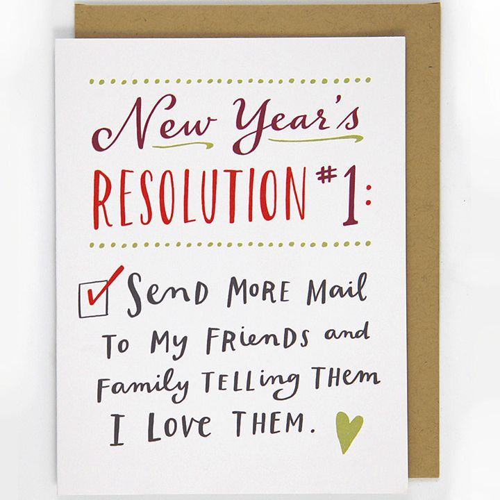 If you want to send a batch of cards out to family and friends, but don't have a photo (or can't possibly choose just one), opt for this set of cards. All you need is a simple message (Happy New Year from our family to yours!), and the card will count down until readers reach your signature. To buy: $10 for 26, skywestern.ga