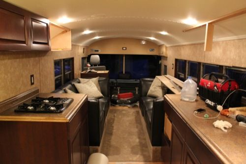 Skoolie Interior Skoolie School Bus Rv Conversion Homes Pinterest Nice Interiors And Style