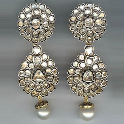 And of course the earrings to go with it.... Uncut Diamond Antique finish earrings.