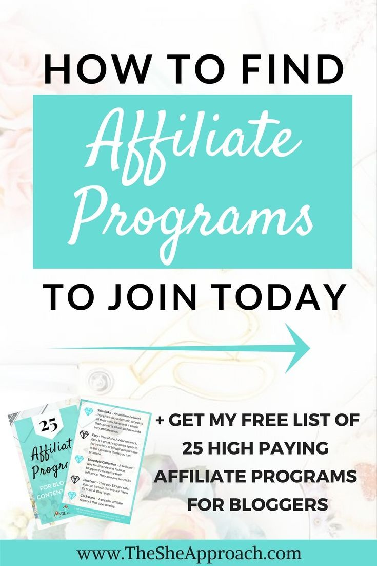 Looking to monetize your blog with affiliate marketing? Grab my list of 25 popular affiliate programs for bloggers and content creators and start making passive income blogging today! Affiliate networks for new bloggers, blogging tips, make money blogging