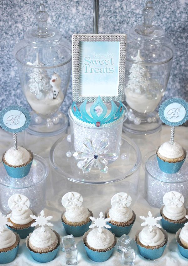frozen birthday party ideas   Trend Alert: Frozen Party {Sweets Table} // Hostess with the Mostess®