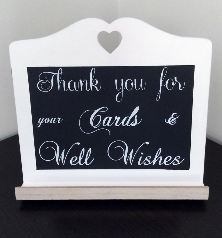 Thank you for your cards & well wishes ~ white  wooden heart cutout blackboard ~  For Hire @ www.celebrationblackboards.com.au