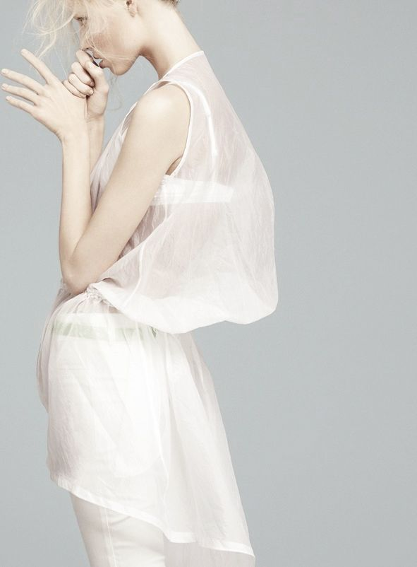 "hautebasics: ""Total White"". Vika Falileeva by Emilio Tini... (Welcome To The…"