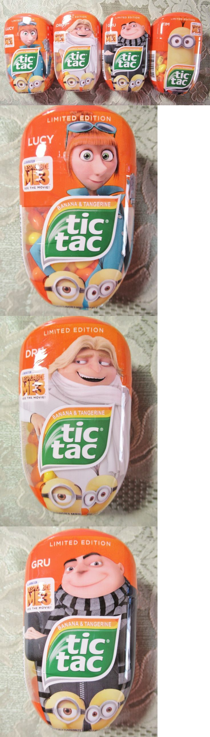Mints 115717: 2017 Despicable Me 3 Limited Edition Minions Tic Tacs 4 Pack -> BUY IT NOW ONLY: $34.95 on eBay!