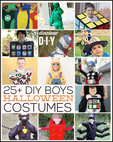 25+ DIY Boys Halloween Costumes featured on www.thirtyhandmadedays.com