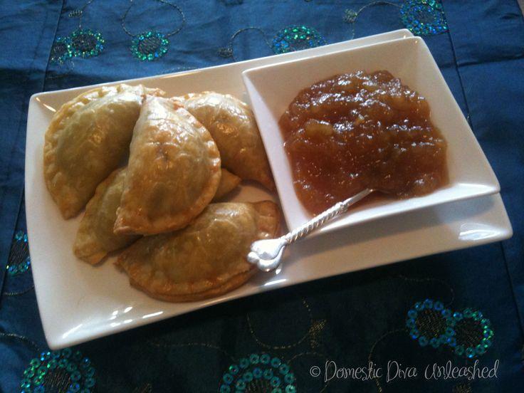 Domestic Diva: Beef Samosas with Pear Chutney