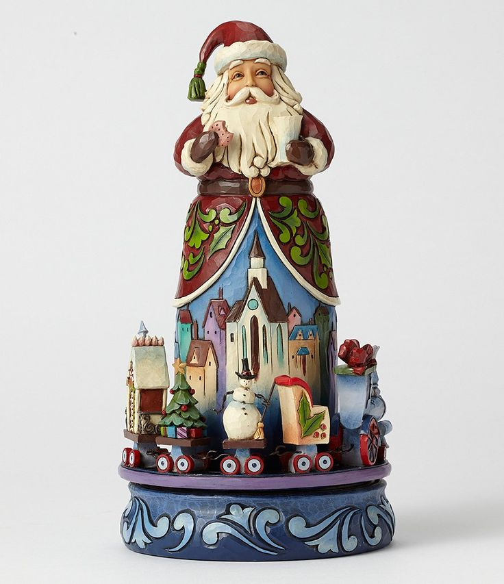 Jim Shore Santa with Rotating Train Figurine