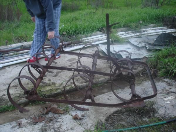 Horse Drawn Spring Tooth Harrow Antique Farm Implements