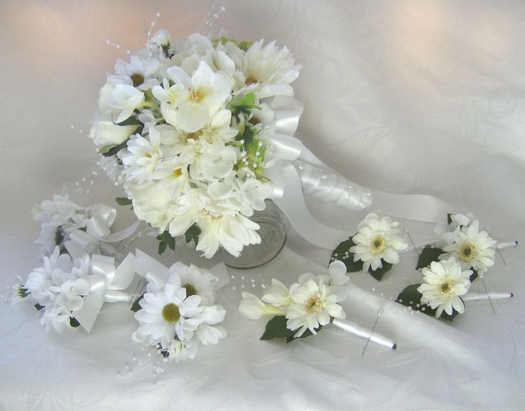 Import Gerbera Wedding Bouquets White Daisy Hydrangea