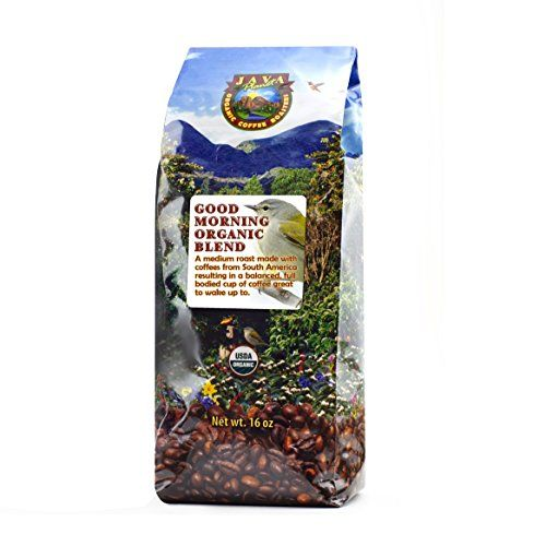 Java Planet  Good Morning USDA Organic Coffee Beans Medium Roast Arabica Gourmet Coffee Grade A packaged in 1 LB bag >>> Check out this great product by click affiliate link Amazon.com