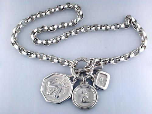 slane  u0026 slane toggle necklace charms large bee rhea eros sterling silver  925