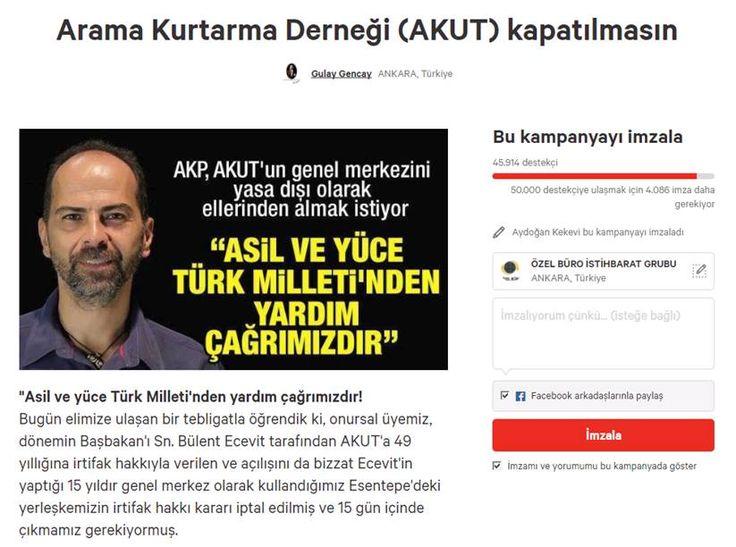 KAMPANYA : ARAMA KURTARMA DERNEĞİ (AKUT) KAPATILMASIN !!!!