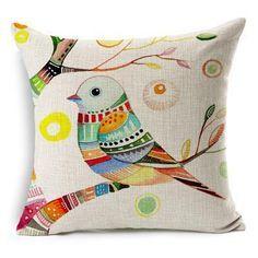 Aliexpress.com: Comprar Envío gratis pintado a mano flores y pájaros de algodón lino funda de almohada decoración para el hogar sofá fundas de colchón tiro 7 patrones / lot de sofá seccional fiable proveedores en an Art of Living