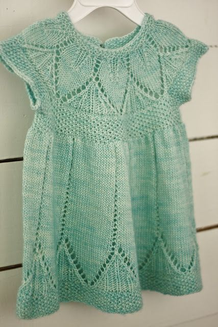 Beautiful knitted baby dress