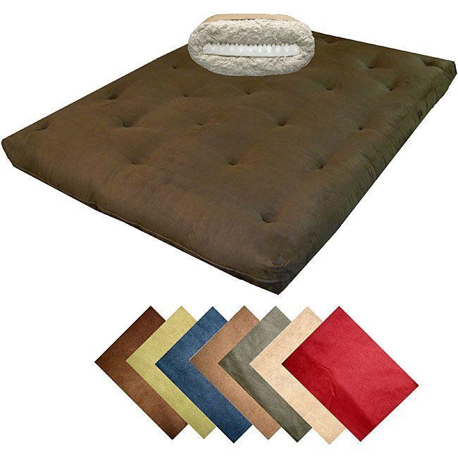 8inch loft fullsize cotton foam microfiber suede premiere futon mattress