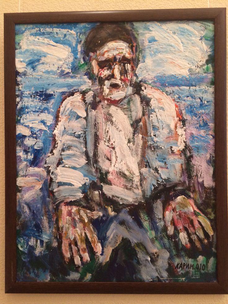 Karimullin Ravkat. Oil on canvas 90/90 cm.  2010. Old man .