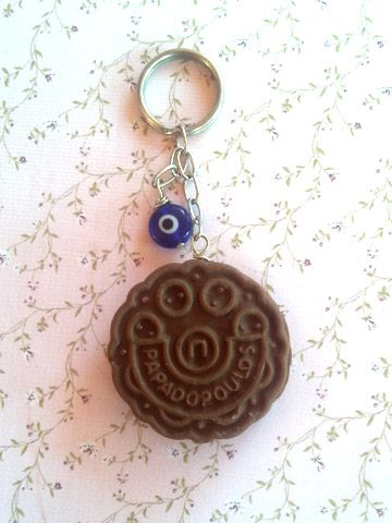 keychain chocolate biscuit