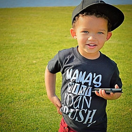 Image of Mama's Mini Man Crush Tee in Black