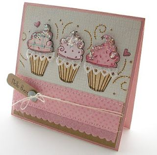 "Happy Birthday Card Cute! I go ""crazy"" for cupcakes!"