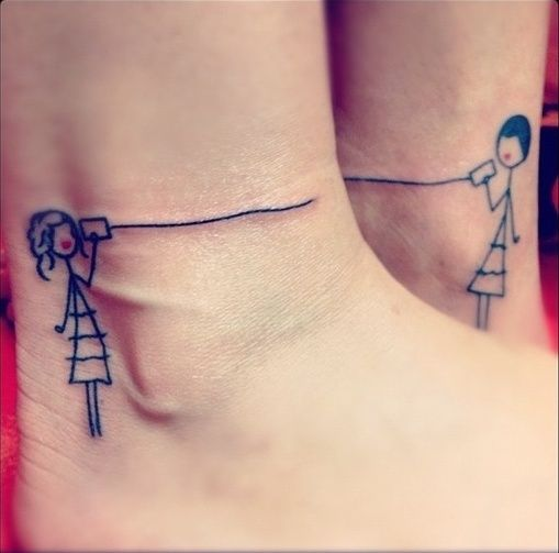 10 Awesome Two-part Tattoos - Long Distance Legs