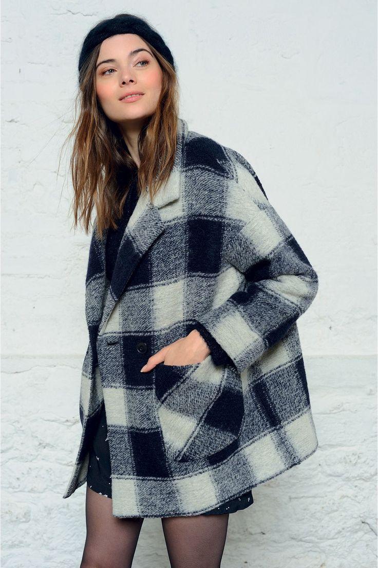 Manteau philibert carreaux - manteau - des petits hauts 1