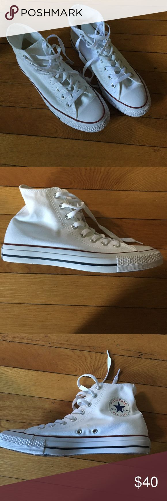 Converse Chuck Taylor White All Star High Tops never worn!! brand new! Converse Shoes Sneakers