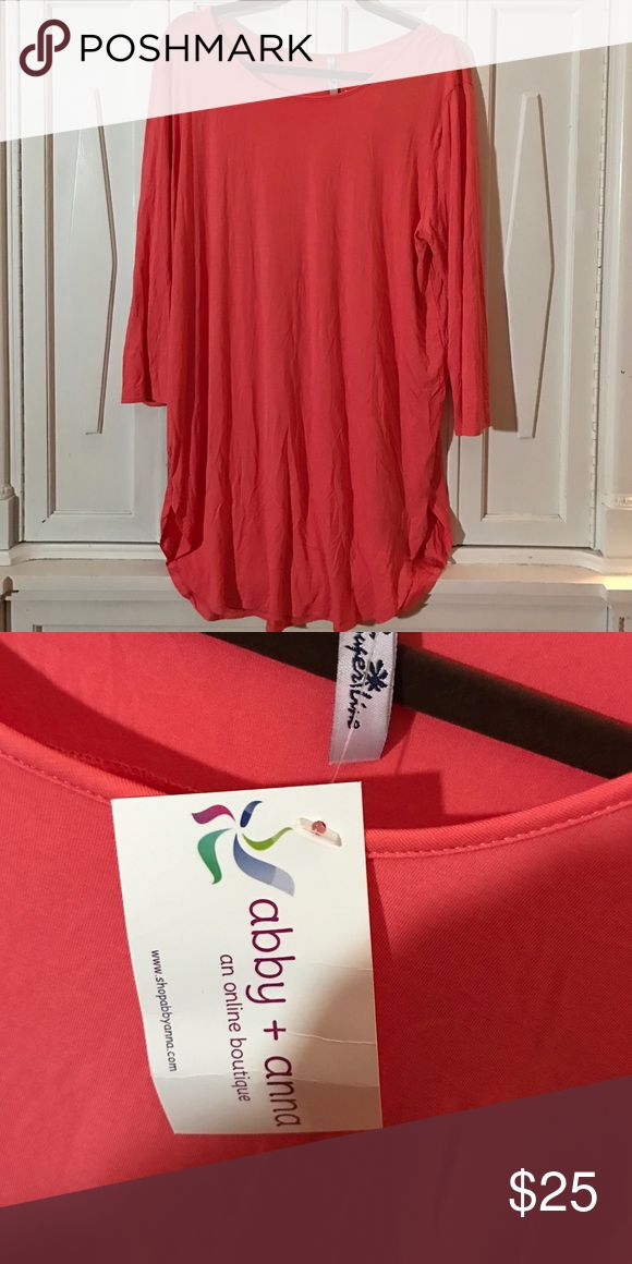 Brand new 2xl Abby and Ana coral shirt Brand new coral shirt. Smoke free pet free home Tops