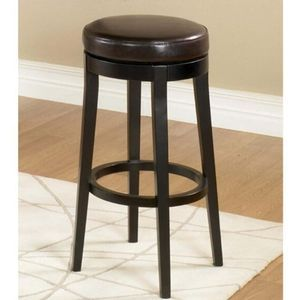 Backless Swivel Barstool with Leather Seat