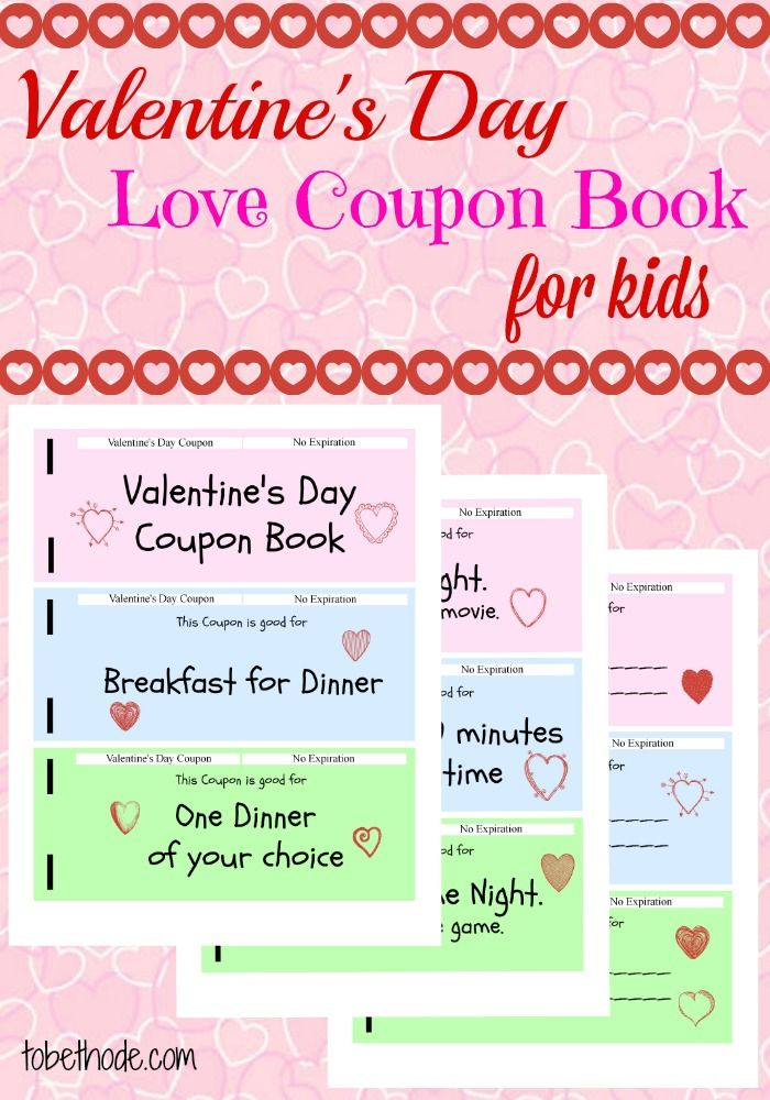 This Valentines Day Coupon Book For Kids Will Be A Huge
