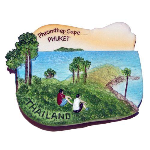 Resin Fridge Magnet: Thailand. Phromthep Cape in Phuket