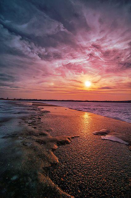 the sun and the beach