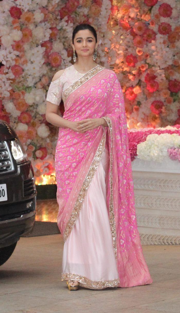 Pink Saree: Alia Bhatt In Pink Saree