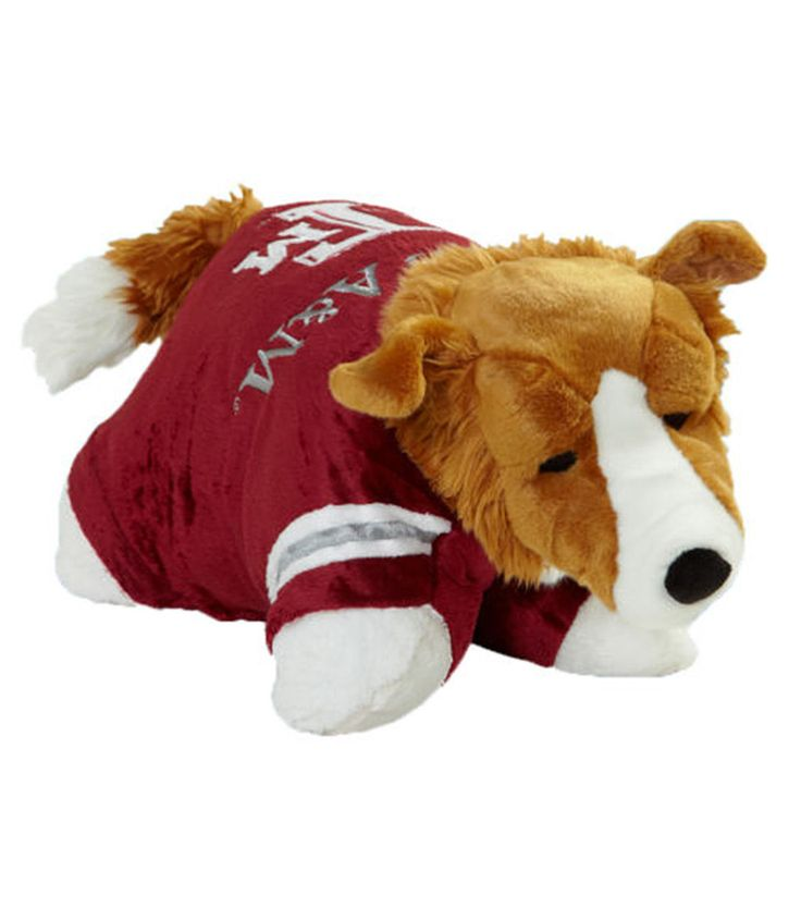 Its a Pillow, Its a Pet- Its a Pillow Pet. Just unfasten its belly  and  the pet becomes an 18 pillow. Pillow Pets products are the ultimate collectible items for sports fan. Recommended for ages 3 an