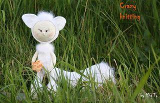 Crazy knitting: Белый лис. Автор идеи Tiana Vladi. Лисёнок потерял...