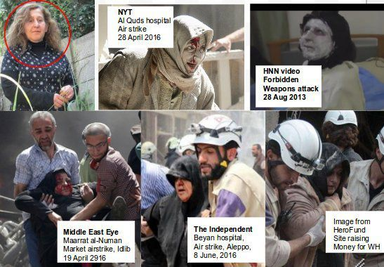 Meet the Actress used in Aleppo White Helmets Propaganda Movies  Friends of Syria