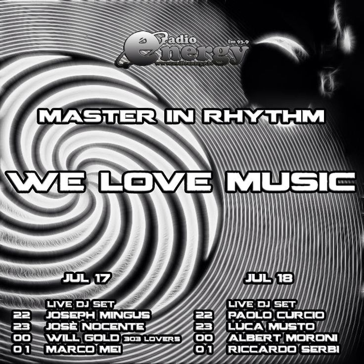 TONIGHT ON AIR WITH MASTER IN RHYTHM • TORINO - ITALIA