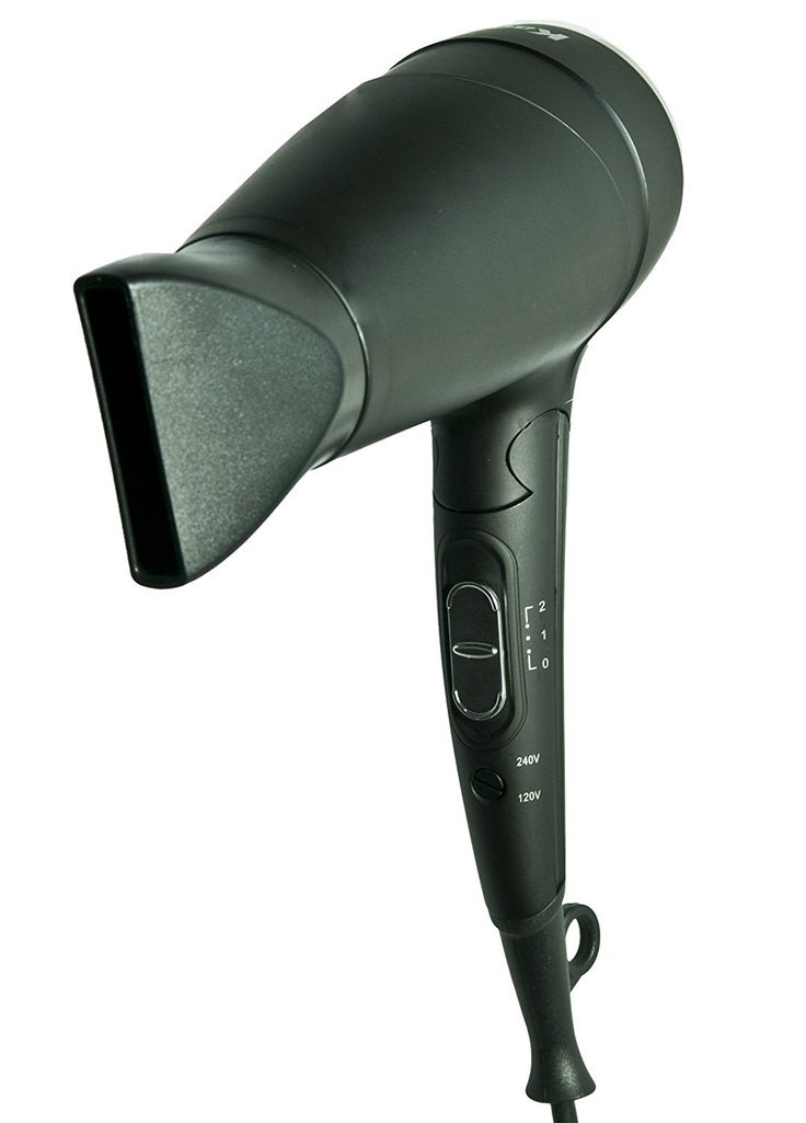 Kadori Professional Travel Blow Salon Hair Dryer Plug N Go, Ceramic, Ionic, with Folding Handle and Dual Voltage 110v/240v -- You can get more details by clicking on the image.