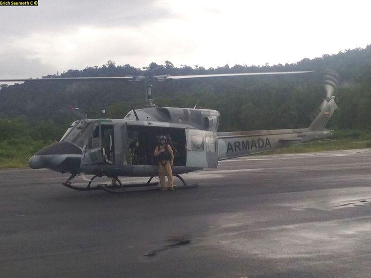 UH-1H (Bell-212) del Comando de la Aviación Naval (GANCA)