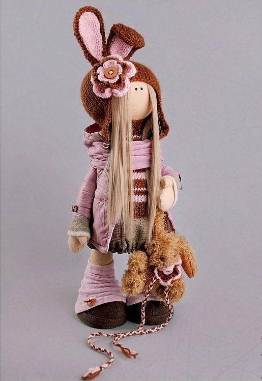 Rabbit doll Tilda doll Interior doll Art doll by AnnKirillartPlace