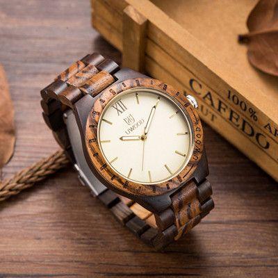 Natural Sandalwood Analog Watch