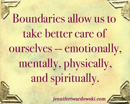 Having and setting boundaries is so important in self care. You will find out who respects you by who respects the boundaries you set for yourself.