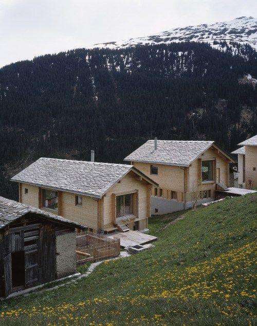 Simona Pribeagu Schmid – Two houses, Vals 2013. Via, photos… – Architecture