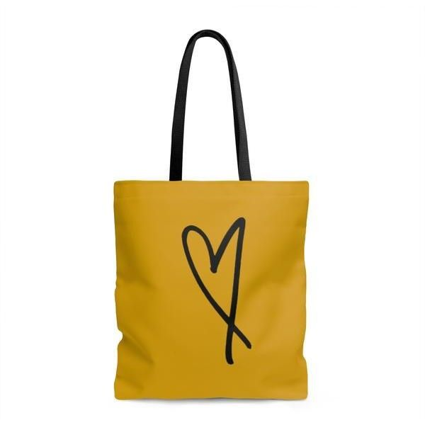 """""""Heart"""" Tote Bag (537.785 IDR) ❤ liked on Polyvore featuring bags, handbags, tote bags, tote bag purse, white tote handbags, beach tote bags, white handbag and handbags totes"""
